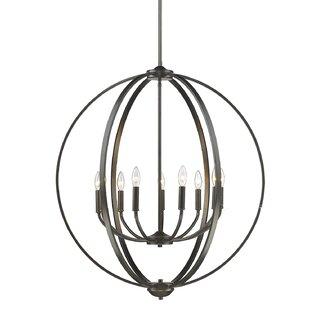 Tensed 9-Light Globe Chandelier