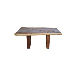Loon Peak Genesis Live Edge Solid Wood Di..