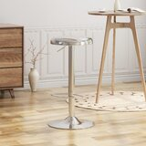 Metal Adjustable Height Bar Stool by Ebern Designs