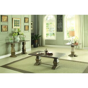 One Allium Way Perryman 3 Piece Coffee Table Set