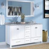 Serigne 60 Double Bathroom Vanity Set with Mirror by Willa Arlo Interiors