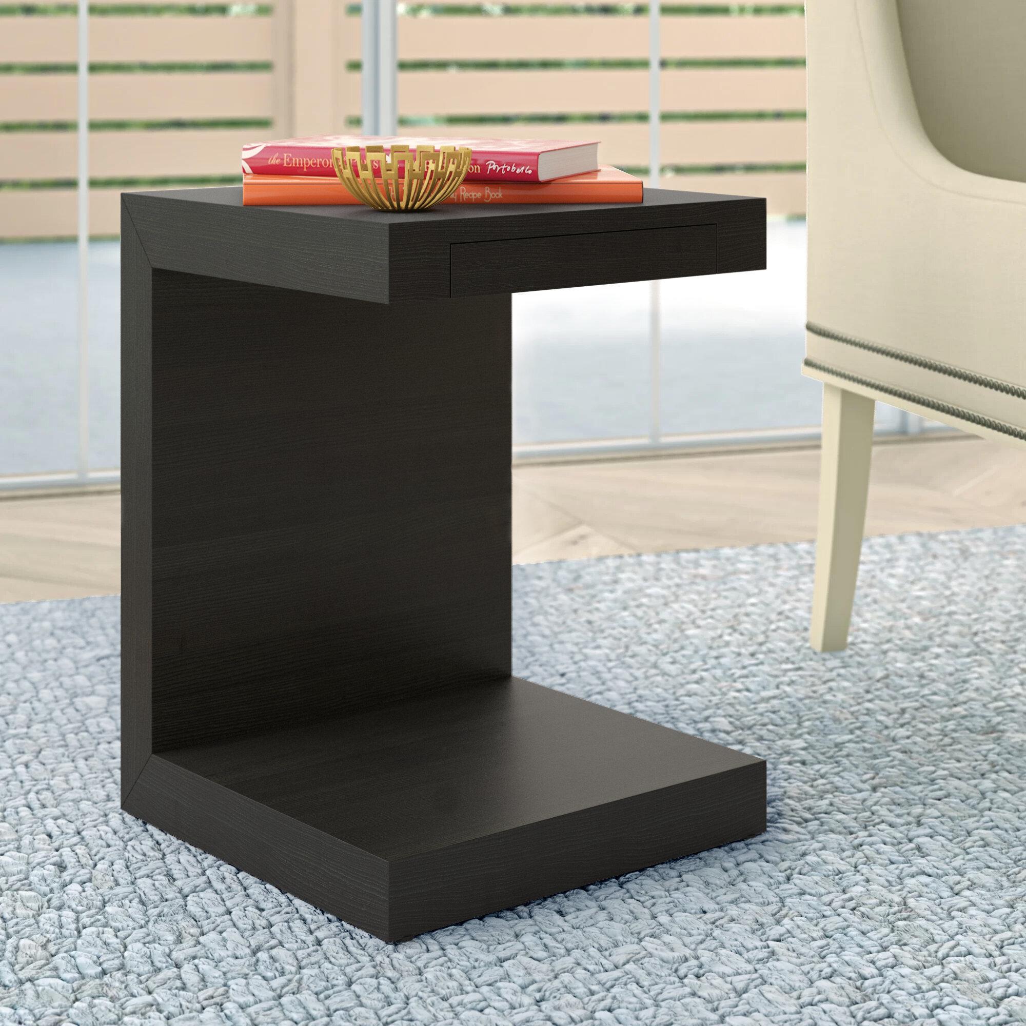 Jansen End Table With Storage Allmodern