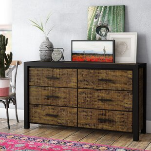 Pittson 6 Drawer Double Dresser