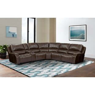 Petrarch Leather Match Symmetrical Corner Sectional by Red Barrel Studio