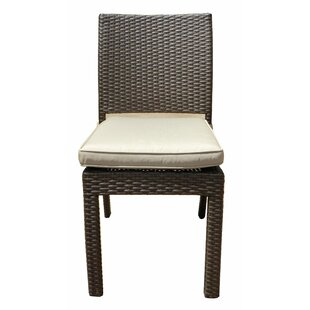 Leaman Stacking Patio Dining Chair with Cushion