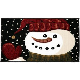 Best Choices Springfield Snowman Hello Black/White/Red Area Rug ByThe Holiday Aisle