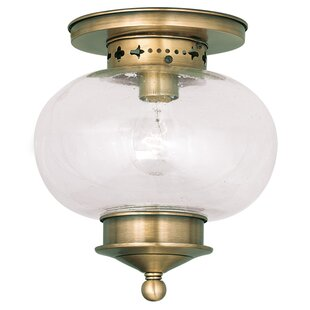 Shielo 1-Light Semi Flush Mount by Longshore Tides