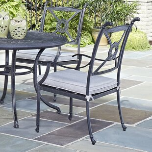 Lansdale Patio Dining Chair with Cushion (Set of 2)