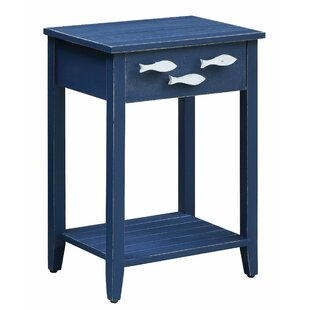 Delicieux Harr Nautical End Table With Storage