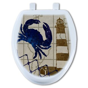 TGC Artisans Seats Crab and Lighthouse Round Toilet Seat
