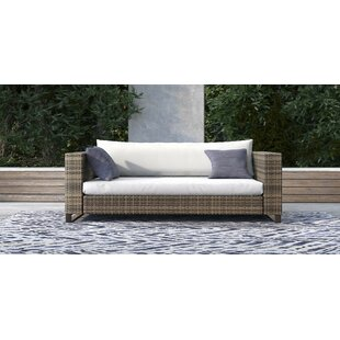 Oceanside Outdoor Wicker Loveseat with Cushions by Tommy Hilfiger