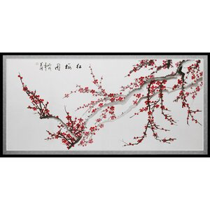 'Plum Blossoms' Framed Painting Print