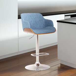 Gregson Adjustable Height Swivel Bar Stool by George Oliver