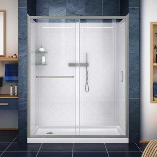 Find the perfect Infinity-Z 60 x 76.75 Rectangle Sliding Shower Enclosure with Base Included ByDreamLine