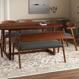 Umstead 4 - Piece Rubberwood Solid Wood Dining Set by George Oliver