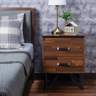 Bargain Townsville 2 Drawer Nightstand by Union Rustic