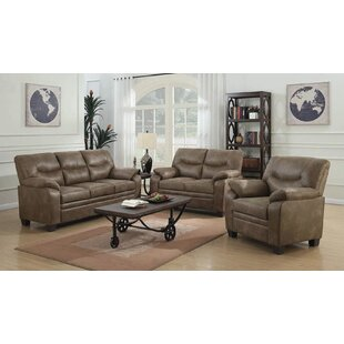 Mulford 3 Piece Living Room Set by Winston Porter