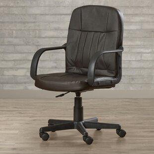 Symple Stuff Deloris Mid-Back Leather Desk Chair