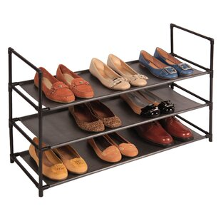 Richards Homewares Stackable Standing 3-Tier Shoe Rack