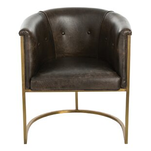 Calvin Genuine Leather Upholstered Dining..