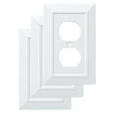 Classic Architecture 1-Gang Duplex Outlet Wall Plate (Set of 3)