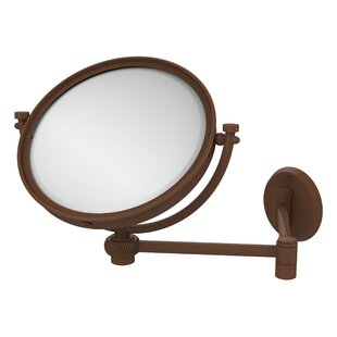 Comparison Extend 2X Magnification Wall Mirror with Twist Detail By Allied Brass