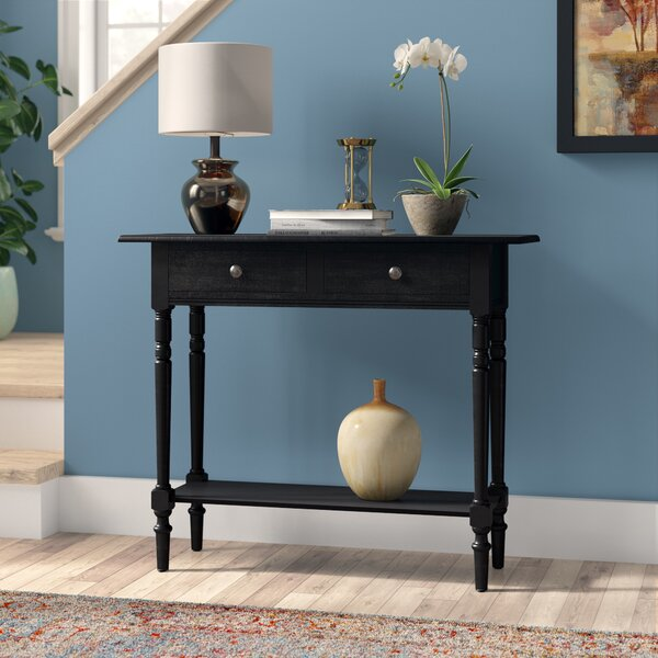 Andover Mills Regan 37 8 Solid Wood Console Table Reviews Wayfair