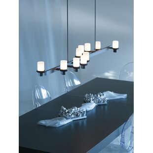 Staccato 10-Light Kitchen Island Pendant by Hubbardton Forge