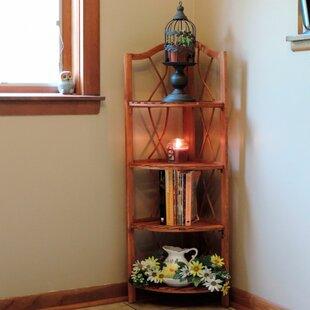 Corner Bookcase by Lavish Home
