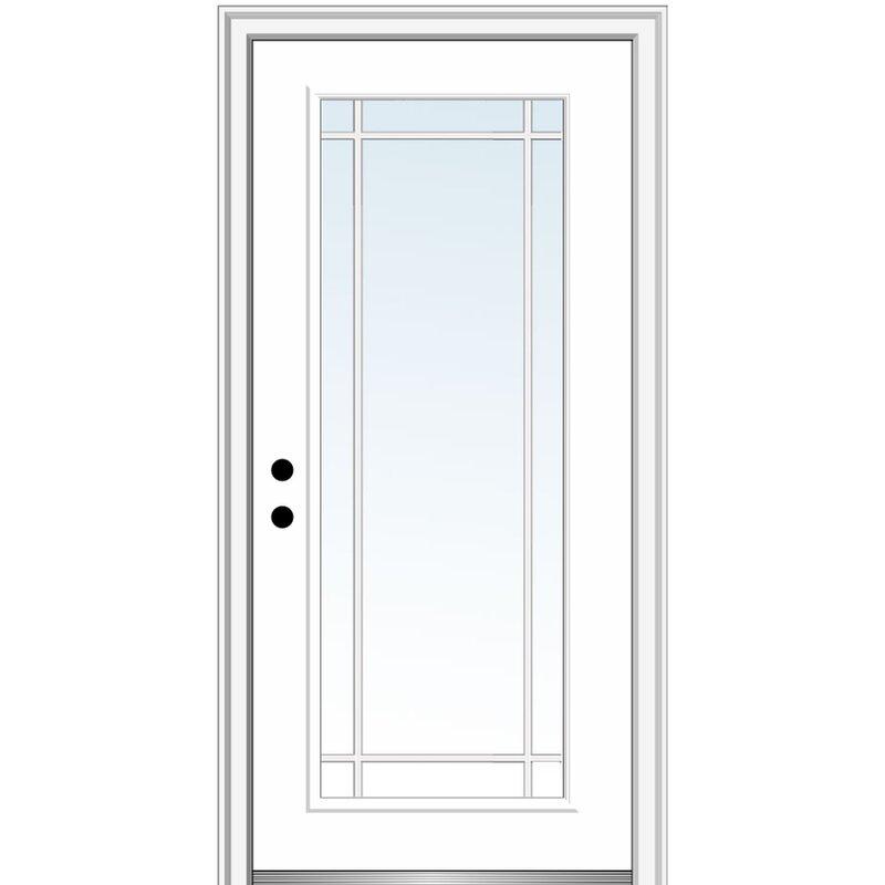 Verona Home Design Prairie Prehung Front Entry Door Wayfair