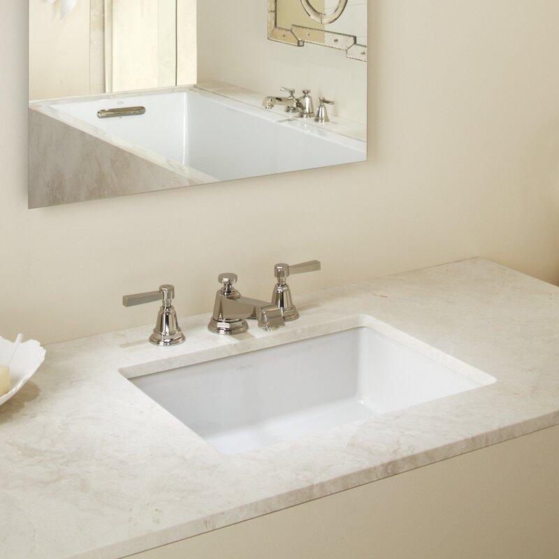verticyl rectangular undermount bathroom sink with overflow
