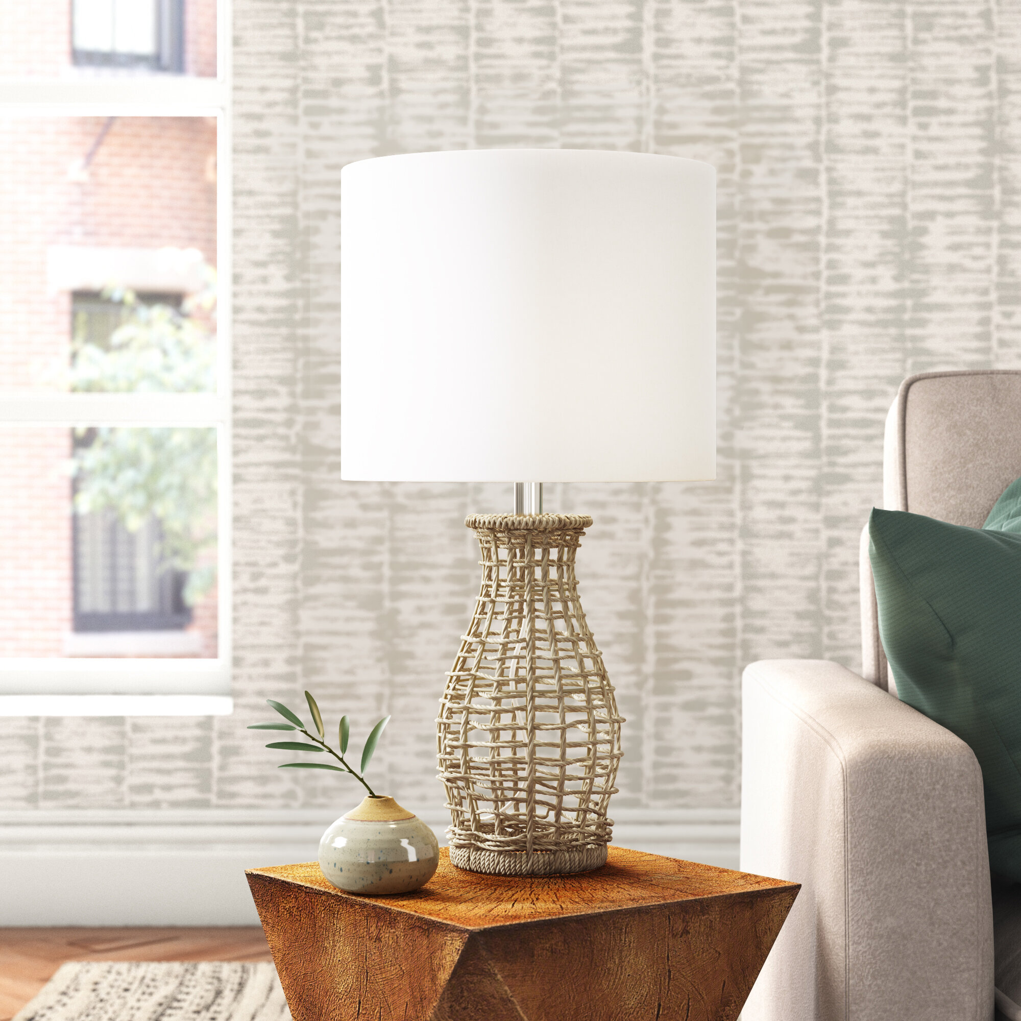 Savell 22 75 Light Natural Table Lamp Reviews Joss Main