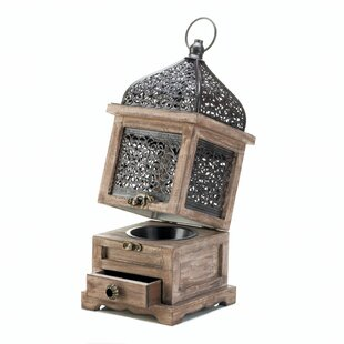 Bungalow Rose Large Flip-Top Wood Lantern