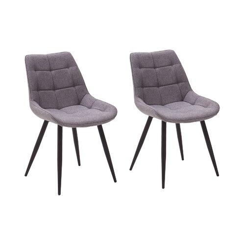 Esszimmerstuhl-Set Amar   Küche und Esszimmer > Stühle und Hocker > Esszimmerstühle   Grau/schwarz   Stoff - Polyester - Metall   ModernMoments