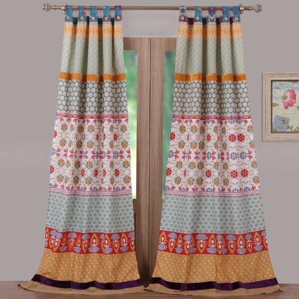 Greenland Home Fashions Thalia Striped Sheer Tab Top Curtain Panels Reviews Wayfair