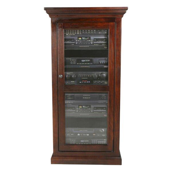 World Menagerie Glass Panel Door Audio Cabinet Reviews Wayfair