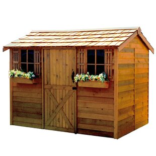 Cabana 10 Ft. W X 7 Ft 9 In. D Wood Storage Shed By Cedarshed