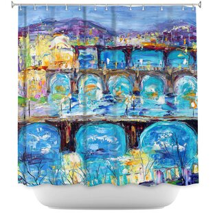 Prague Sunset Shower Curtain