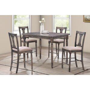 Superb Vera 5 Piece Counter Height Pub Table Set