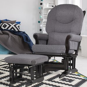sleigh frame reclining glider and ottoman - Gliding Rocking Chair