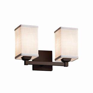 Ebern Designs Favela 2 Light Square w/ Flat Rim Vanity Light