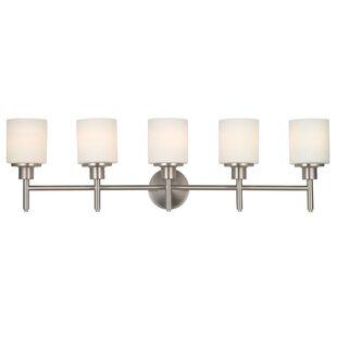 Coupon Buckleys 5-Light LED Vanity Light By Zipcode Design