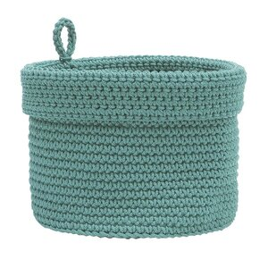 Modu00e9 Crochet Basket with Loop