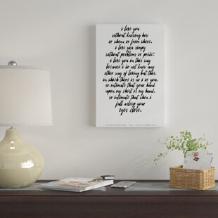 Love Quote Wall Art Wayfair
