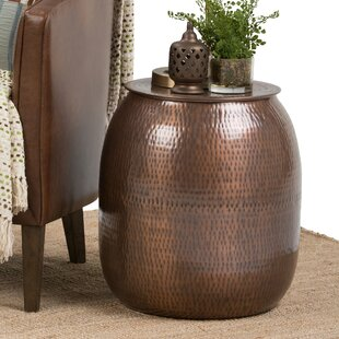 Cavett Metal Storage End Table by World Menagerie