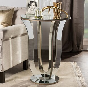 Gimenez Modern Mirrored End Table