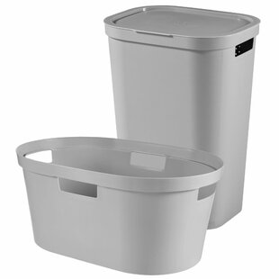Infinity Laundry Hamper And Waste Basket Set By Rebrilliant
