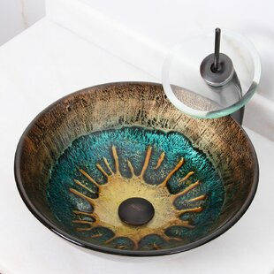 Reviews Elite Glass Circular Vessel Bathroom Sink By Elimaxs