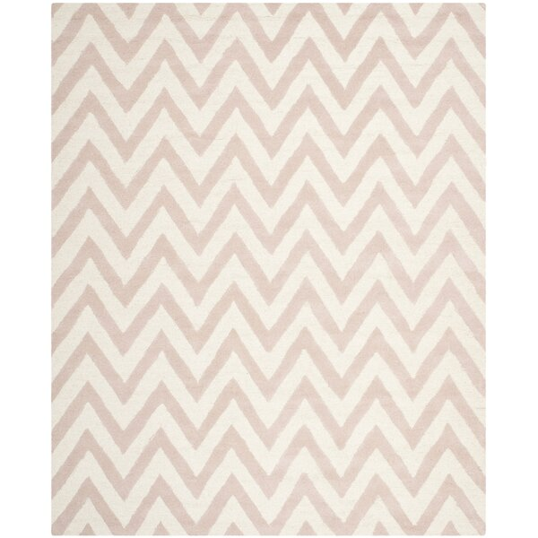 Varick Gallery Martins Chevron Light Pink U0026 Ivory Area Rug U0026 Reviews |  Wayfair