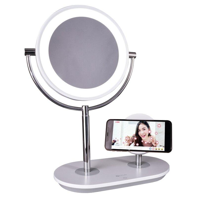Ottlite Wireless Charging Modern Lighted Magnifying Makeup Mirror Reviews Wayfair